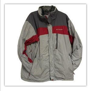 Columbia whirlibird men's extra large gray red